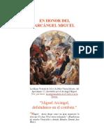 En Honor al Arcangel Miguel