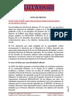 Nota de Prensa ENSF Jose Maria Arguedas