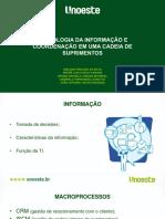 Grupo7_tecnologia Da Informacao e Coordenacao Em Uma Cadeia de Suprimentos
