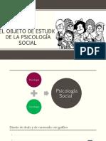 El Objeto de Estudio de La Psicología Social