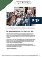 RSE de P&G Impulsa Programa 'Agua Limpia Para Los Niños'