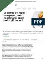 La Disfida Del Ragù_ Bolognese Contro Napoletano, Quale Sarà Il Più Buono_ - Repubblica