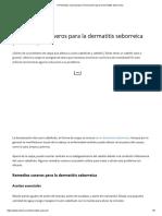 11 Remedios Caseros(Que Sí Funcionan!!) Para La Dermatitis Seborreica