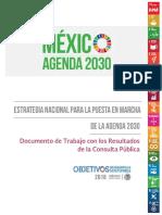 Estrategia Nacional Agenda 2030 - Con Resultados Consulta P Blica. en l Nea