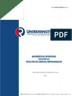 Matematicas I Matematicas Operativas 2016 - Unidad4