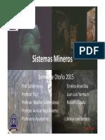 Clase 1 Introducción a La Minería Subterranea-Sistemas Mineros