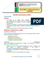 Anatomia y Fisiologia de La Laringe.