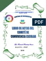 Caratula Del Libro de Actas Deconvivencia Escolar 2018