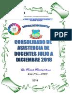 Caratula Asistencia Julio Diciembre 2018