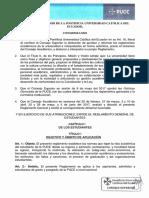 PUCE Reglamento General de Estudiantes