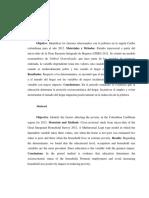 Determinantes de La Pobreza en La Región Caribe Colombiana
