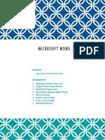 Microsoft Word Ofimática