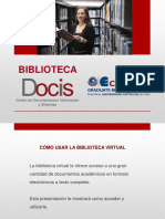 Uso de La Biblioteca Virtual 2017