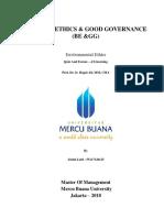 3,1, BE & GG, Abdul Latif., SE, Prof. Dr. Ir. Hapzi Ali, MM, CMA, Environmental Ethich, Mercu Buana University, 2018.