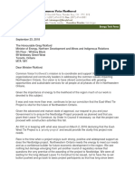 Letter to Minister Rickford Re East West Tie