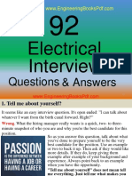 92 Electrical Interview Questions and Answers