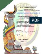 Adminstracion de Cuentas Por Pagar