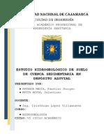 Estudio Hidrogeológico de Suelo de Cuenca Sedimentaria en Depósito Aluvial