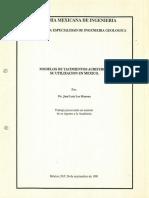 modelos de Yacimientos Auriferos Su Utilizacion en Mexico Geologica