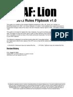 RAF Lion Flipbook 2013 Rules v 1.0
