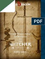Old Dragon O Mundo de the Witcher Inventário