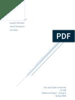 CE 236 - Midterm Report