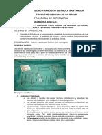 Laboratorio 7 Material de Sutura, Agujas Quirúrgica Ytecnica de Sutura.