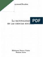 Boudon Raymond - La Racionalidad en Las Ciencias Sociales