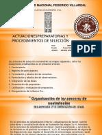 Actuaciones Preparatorias y Procedimientos de Seleccion