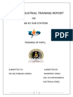 Projest report on 4 week industrial training at 66kv substation(MES)(Bathinda).docx
