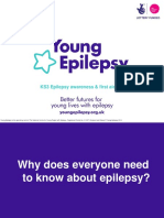 KS3 Epilepsy Awareness and First Aid Lesson Presentation