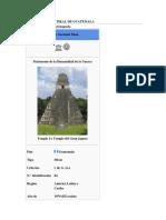 Parque Nacional Tikal de Guatemala
