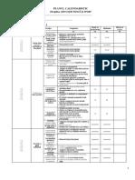 Clasa VIII - EFS - Planul Calendaristic Semestrial