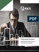 RICS Professional Education Brochure