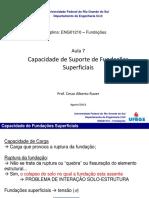Aula 7 - Capacidade Suporte Fundações Superficiais