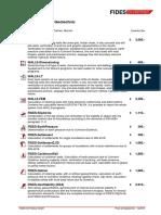 P007e FIDES Pricelist