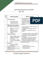 Activităţi Propuse Pentru Programul Scoala Altfel 2018 - 2019
