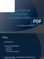 FINAL History of Psychiatric Classification