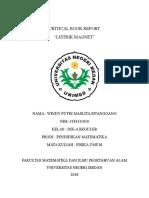 Critical Book Report Fisika Umum I Lengkap