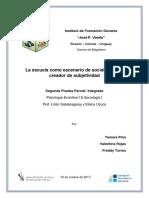 La Escuela Como Escenario de Socialización y Creador de Subjetividad (Final)