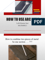 how to do arc weld