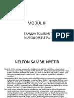 SP MODUL III Blok Muskuloskeletal