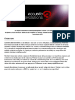 Acoustic Revolutions 3 Manual