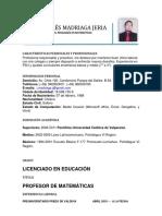 CV Jorge Madriaga Profesor Matematicas