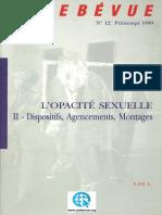 L'UNEBEVUE Revue de psychanalyse nº 12 - Dispositifs, Agencements, Montages