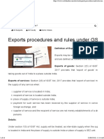 Exports Procedures and Rules Under GST