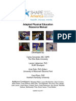 Adapted Physical Education Resource Manual
