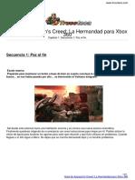 Guia Assassins Creed La Hermandad Xbox 360