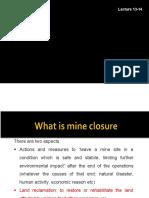 Lecture 13-14. Mine Closure
