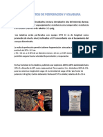 Parametros de Perforacion y Voladura